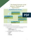 Module 2-Developing Strategies in the Food Industry