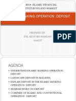 Islamic Banking Operation-Deposit