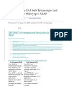 Sap Abap Webdynpro Documents & Programs