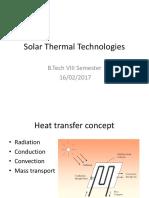 Solar Thermal Technologies