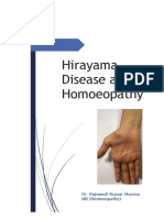 Hirayama Disease and Homoeopathy