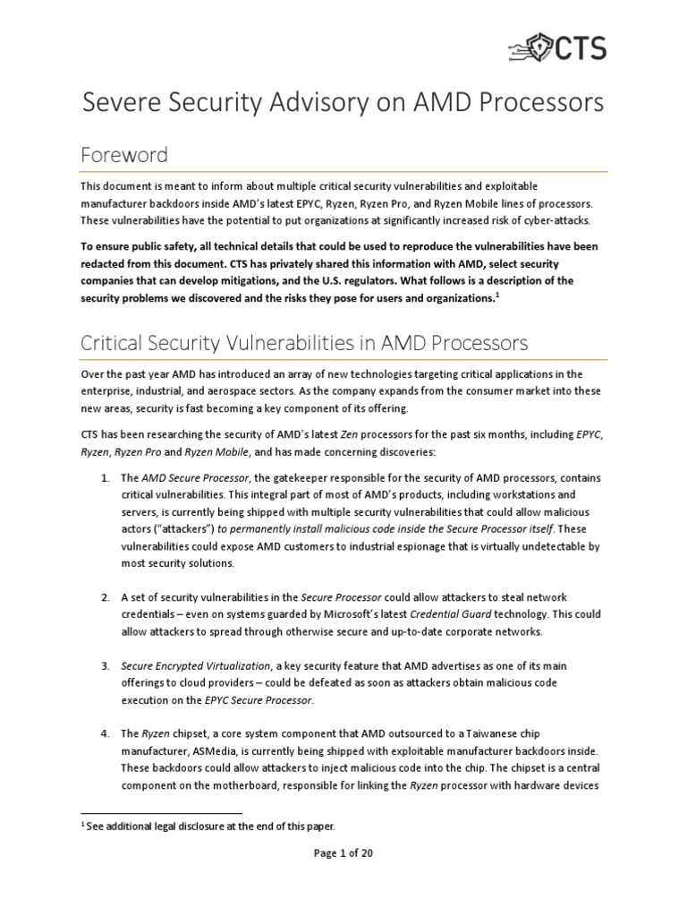 amdflaws_whitepaper | Booting | Online Safety & Privacy