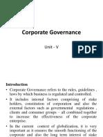 Unit - V Corporate Governance