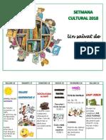 Programa Setmana Cultural 2017-18