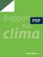 Alto Adige - Eurac Rapporto Clima 2018