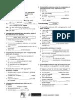 Test Extra Resources Key to Bachillerato 1