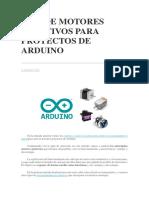Tipos de Motores Rotativos Para Proyectos de Arduino
