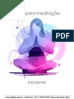 Guia Meditação - Iniciante