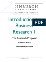 Introduction to Business Research 1