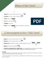 Afiliación y Recuperación de Clave Click Caroní