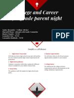 parent night - 9th grade  2