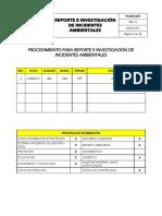 PA-MA-009 Reporte e Investigacion Incidentes Ambientales