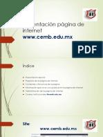 Presentación Página de Internet Cemb.edu.Mx