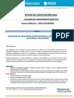 Desarrollo de Capacidades Fundamentales en Ciencias Naturales - Mayo