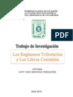 Los Regímenes Tributarios y Los Libros Contables