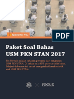 Paket Soal Bahas USM PKN STAN 2017 (by @Infopknstan)