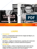 Teoria de Rasgos y Factorial Allport y Eysenck