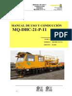 Manual de Uso y Conducción de Dresina