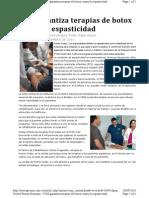 IVSS Garantiza Terapias de Botox Contra La Espasticidad
