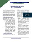 principios didacticos en la enseñanza