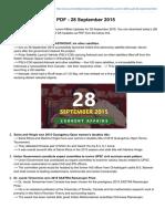 Currentaffairs4examz.com-Daily Current Affairs PDF - 28 September 2015