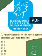 Questões - Obmep - Nivel 01