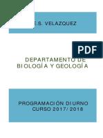 Programacion Biologia y Geologia 17-18