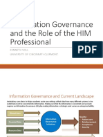 information governance and the role of the him