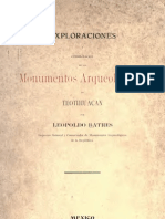 Exploraciones y consolidación de los monumentos arqueológicos de Teotihuacán