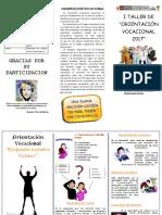 Triptico Para Imprimir Vocacional