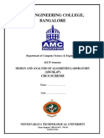 vtu 4th sem design and analysis of algorithm observation