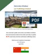 University of Sydney Human Trafficking Crimes