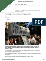 'Tourists Go Home'_ Leftists Resist Spain's Influx - BBC News