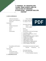 288322370 Plan de Trabajo de Orientacion Vocacional Doc
