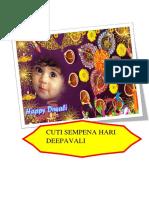 Cuti Deepavali