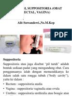 Inhalasi, Suppositoria (Obat Rectal, Vagina - Copy