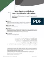 Dor, Angústia e Automutilação Em Jovens - Considerações Psicanalíticas