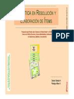 Giraldo y Alfaro - Práctica en Resolución y Elaboración de Items