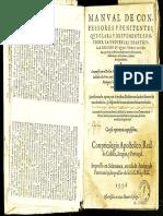 Azpilcueta - Manual de Confessores y Penitentes