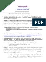 Macro 1 Guía de Ejercicios - Modelo Keynesiano Simple