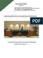 Regolamento Auditorium 2013