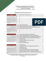 Calendario Iniciação Científica 2017