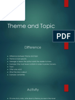 F451 Theme and Topic