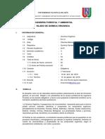 Silabo de Química Orgánica-Ingeniería Forestal y Ambiental-UNJ-2018-I-Dra.Irma Rumela Aguirre Zaquinaula
