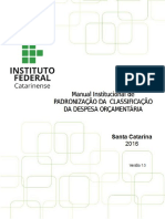 Manual-Institucional Padronização Classificação Despesa-Orçamentária