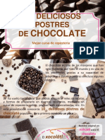 Postres de chocolate-Mejor curso de repostería