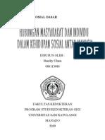 Hubungan masyarakat dan individu dalam kehidupan sosial antar manusia