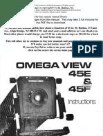 Omega View 45e 45F