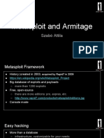 Metasploit and Armitage