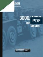 Allison Transmision Om3753en, 3000-4000 Sp Series Operators Manual